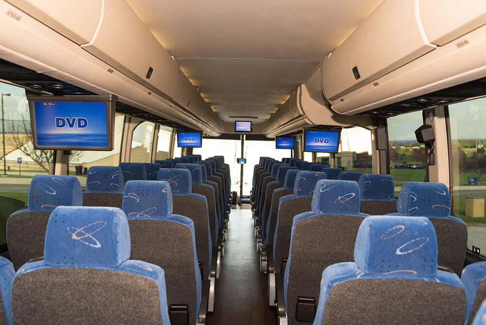bus with TVs for DVD